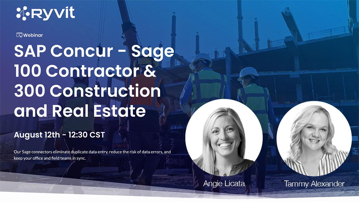 Webinar: SAP Concur Connectors for Sage 100 Contractor & 300 Construction and Real Estate