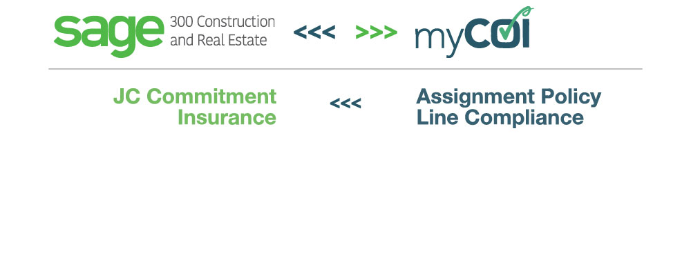 Sage 300 Construction and Real Estate (CRE) + myCOI