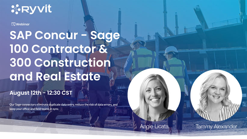 Webinar: SAP Concur Connectors for Sage 100 Contractor & 300 Construction and Real Estate
